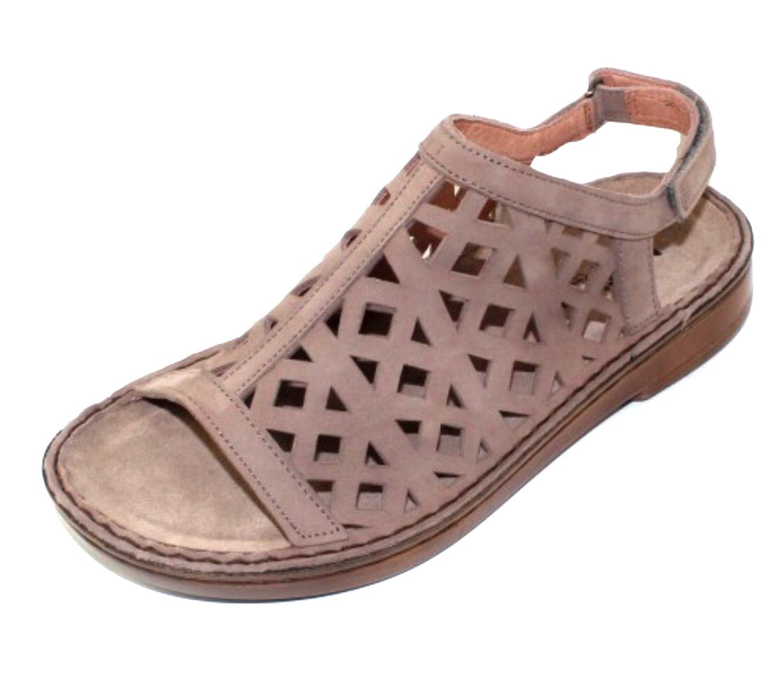 Naot Amadora Stone Nubuck Leather Ladies Sandals Made In Israel