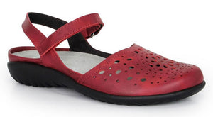 Naot Arataki Berry Red Leather Ladies Sandals Made In Israel