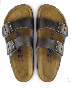 Birkenstock Arizona Iron Oiled Leather Soft Footbed Made In Germany