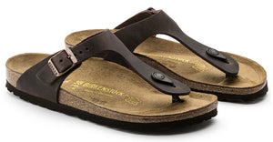 Birkenstock Gizeh Habana Oiled Leather Made In Germany