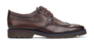 Pikolinos M9M-4226C1 Olmo Brown Mens Brogue 4 Eyelet Lace Up Made In Spain