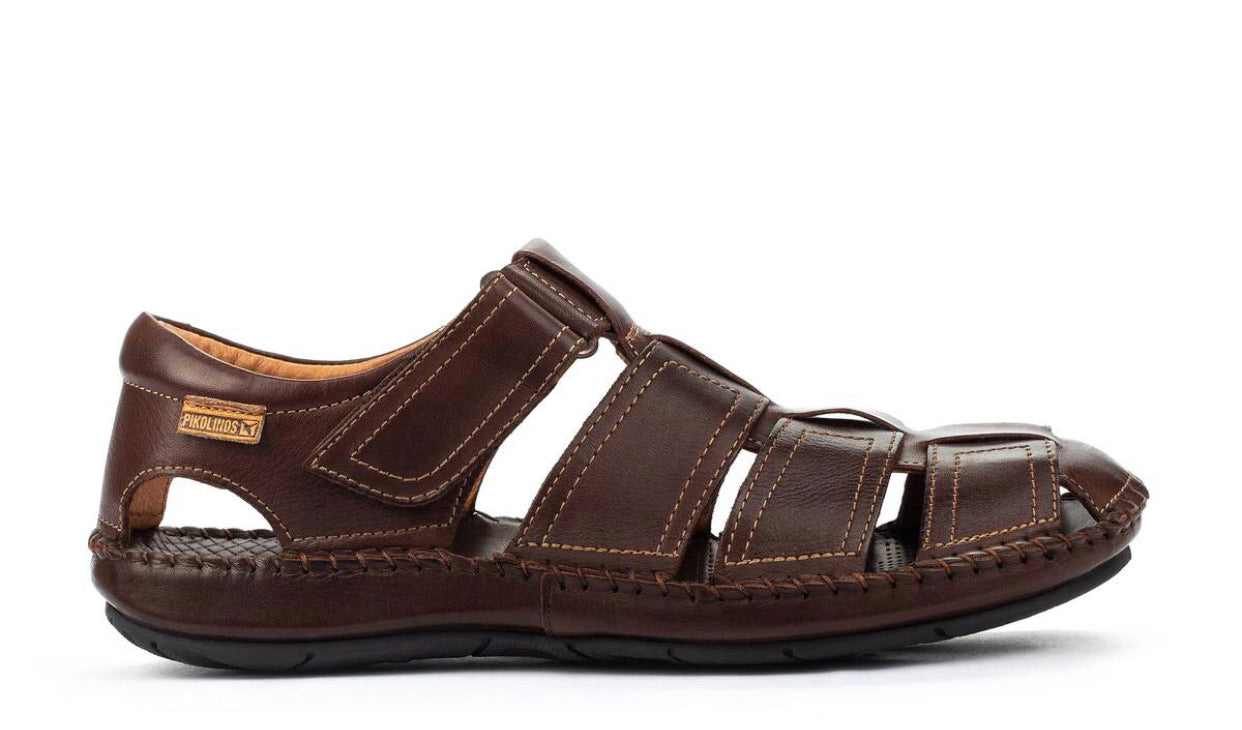 Pikolinos 06J-5433 Olmo Leather Sandals Mens Velcro Made In Spain
