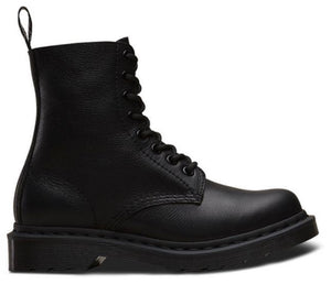 Dr. Martens 1460 Black Mono Pascal Virginia 8 Eyelet Boot