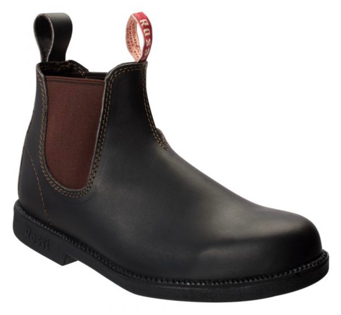Rossi Boots 607 Booma Claret Brown Soft Toe Chelsea Boot Made In Australia