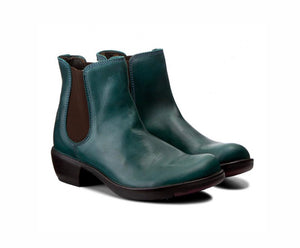 Fly London Ladies Boots Make Petrol Ankle Chelsea Boots Made In Portugal