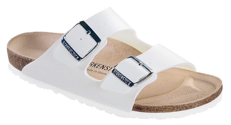 Birkenstock Arizona White Birko-Flor Made In Germany