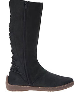 El Naturalista ND16 Black Lace Up Zip Long Boots Made In Spain