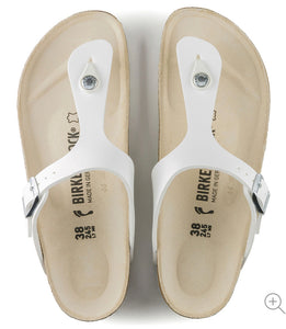 Birkenstock Gizeh White Birko-Flor Made In Germany
