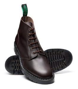 Solovair Brown Greasy Astronaut 6 Eyelet Boot Made In England