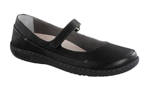 Birkenstock Iona Black Leather Mary Jane