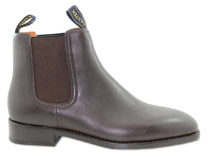 Baxter Horseman Walnut Brown Leather Sole Chelsea Boot