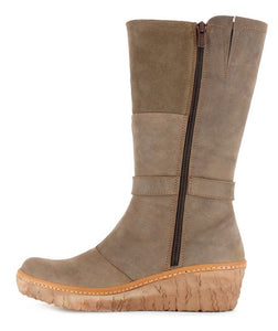 El Naturalista N5134 Plume Zip Wedge High Boots Made In Spain