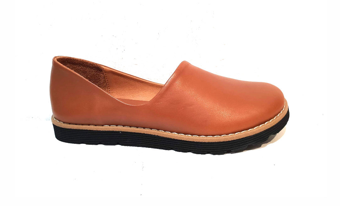Sala Europe Gigi Tan Slip On Closed Toe Made In Turkey