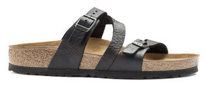 Birkenstock Salina Black Oiled Leather Made In Germany