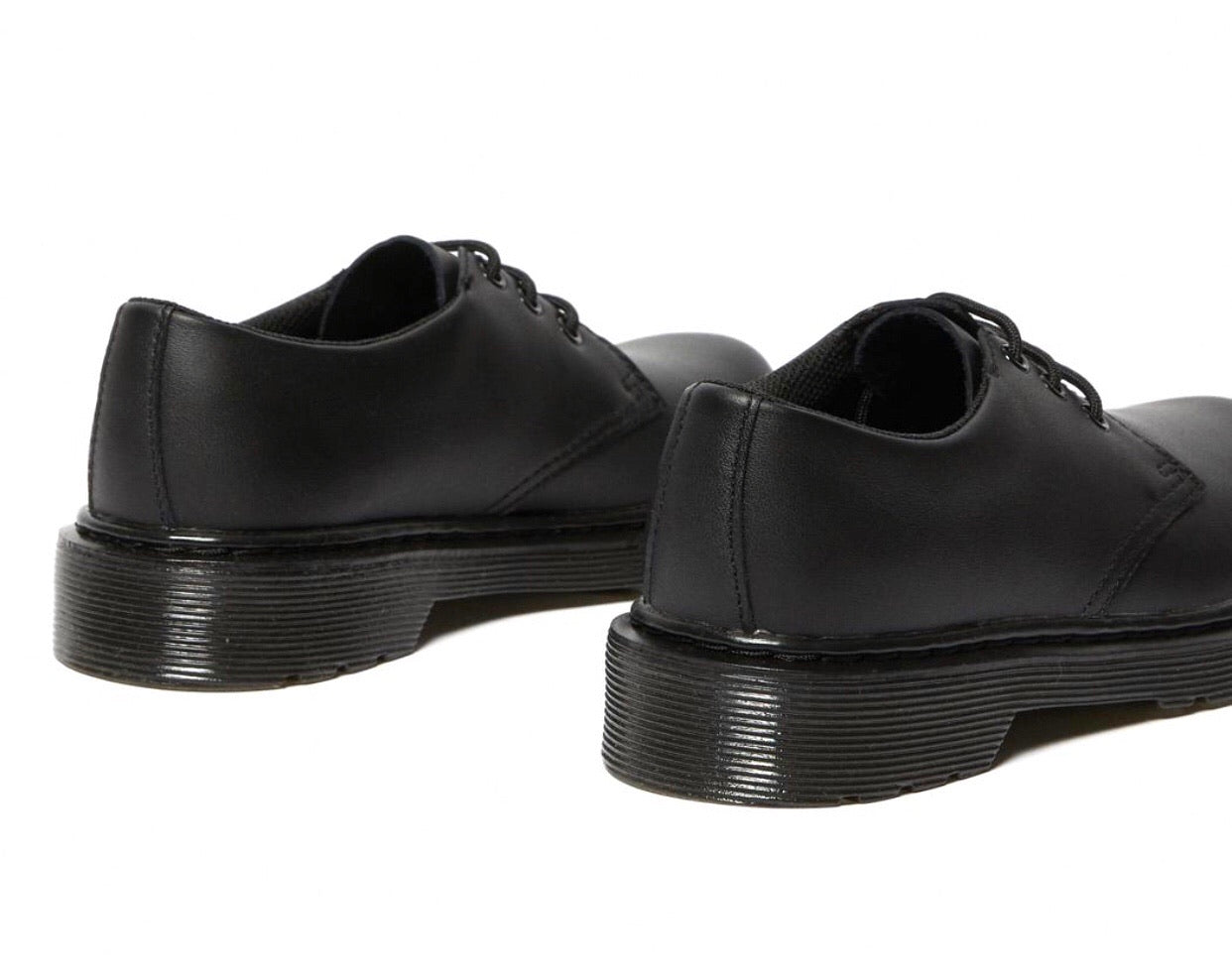 Dr. Martens 1461 Black Mono Junior 3 Eyelet Shoe