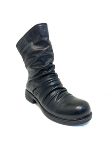 Minki Ladies Boots Campbell Black Zip Mid Calf