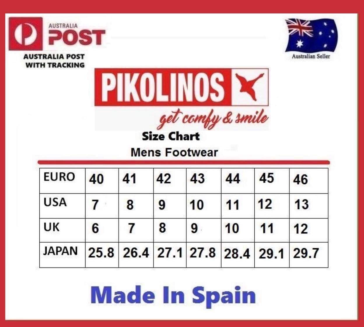 Pikolinos M8J-4195 Cuero Mens 3 Eyelet Lace Up Made In Spain