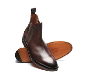 Solovair NPS Stanley Brown Chelsea Boot Leather Sole Made In England