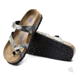 Papillio By Birkenstock Tabora Damask Grey Soft Footbed Made In Portugal