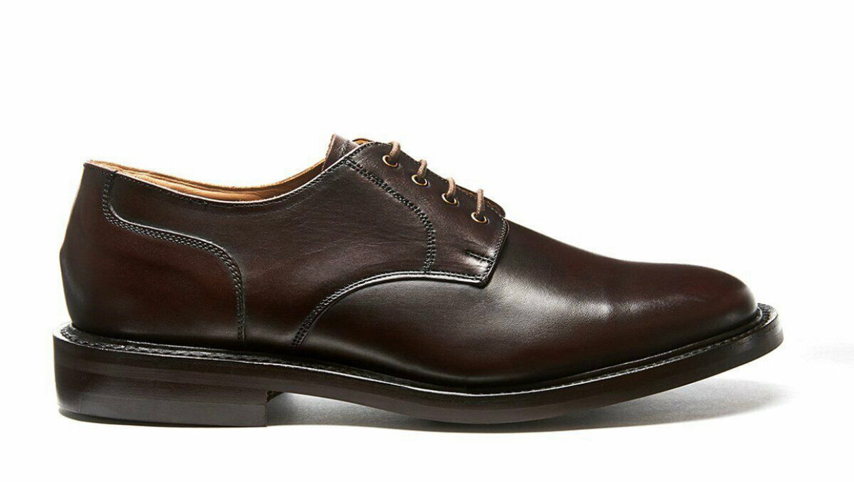 Solovair NPS Heritage BLAIR Walnut 4 Eyelet Gibson Shoe Leather Sole Made In England