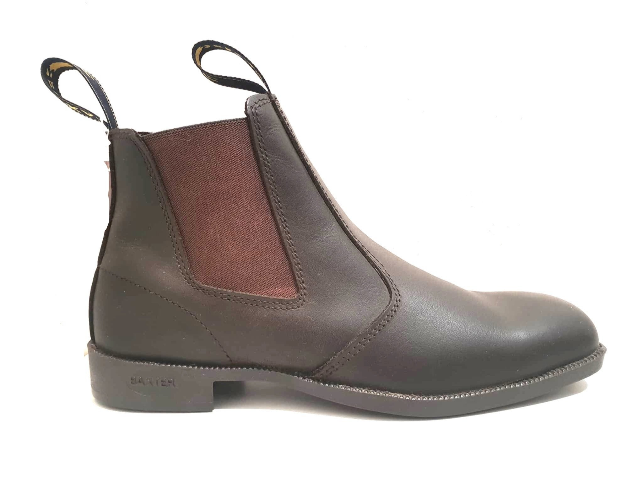 Baxter B Boot Claret Brown Elastic Sided Boot