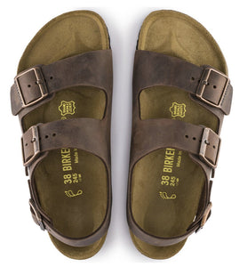 Birkenstock Milano Habana Oiled Leather Made In Germany