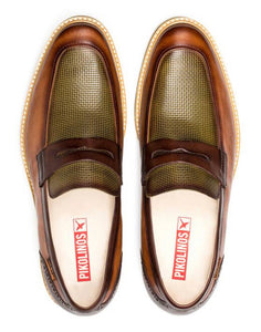 Pikolinos M7L-3141C1 Toulouse Brandy Leather Slip On Shoes Made In Spain