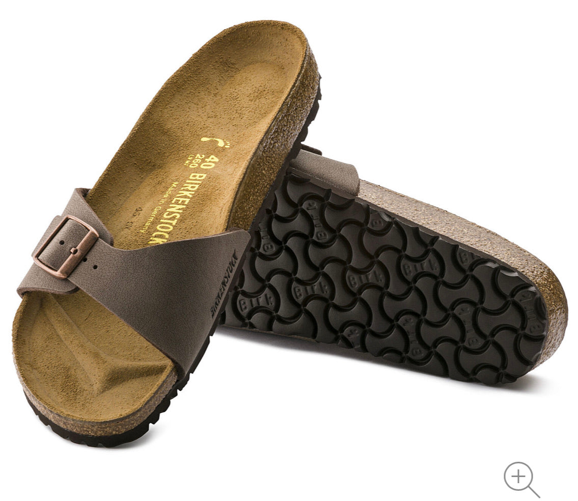 Birkenstock Madrid Nubuck Mocca Birko-Flor Made In Germany