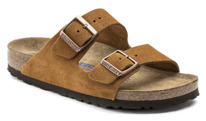 Birkenstock Arizona Mink Suede Leather Soft Footbed Made In Germany
