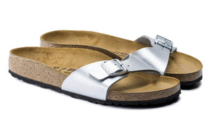Birkenstock Madrid Silver Birko-Flor Made In Germany