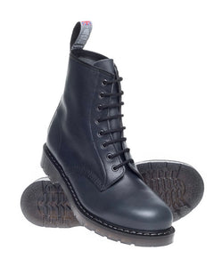Solovair Blue Waxy 8 Eyelet Boot Limited Edition Made In England