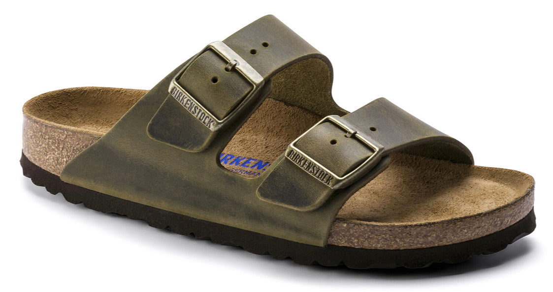 Birkenstock Arizona Jade Oiled Leather Soft Footbed Made In Germany