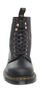 Dr. Martens 1460 Black Pascal Ankle 8 Eyelet Boot Soapstone Hi Suede Wp