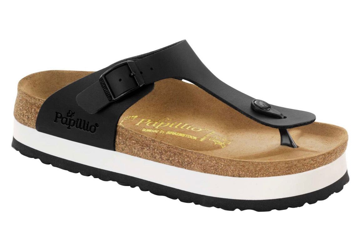 Papillio By Birkenstock Gizeh Black Platform Made In Portugal