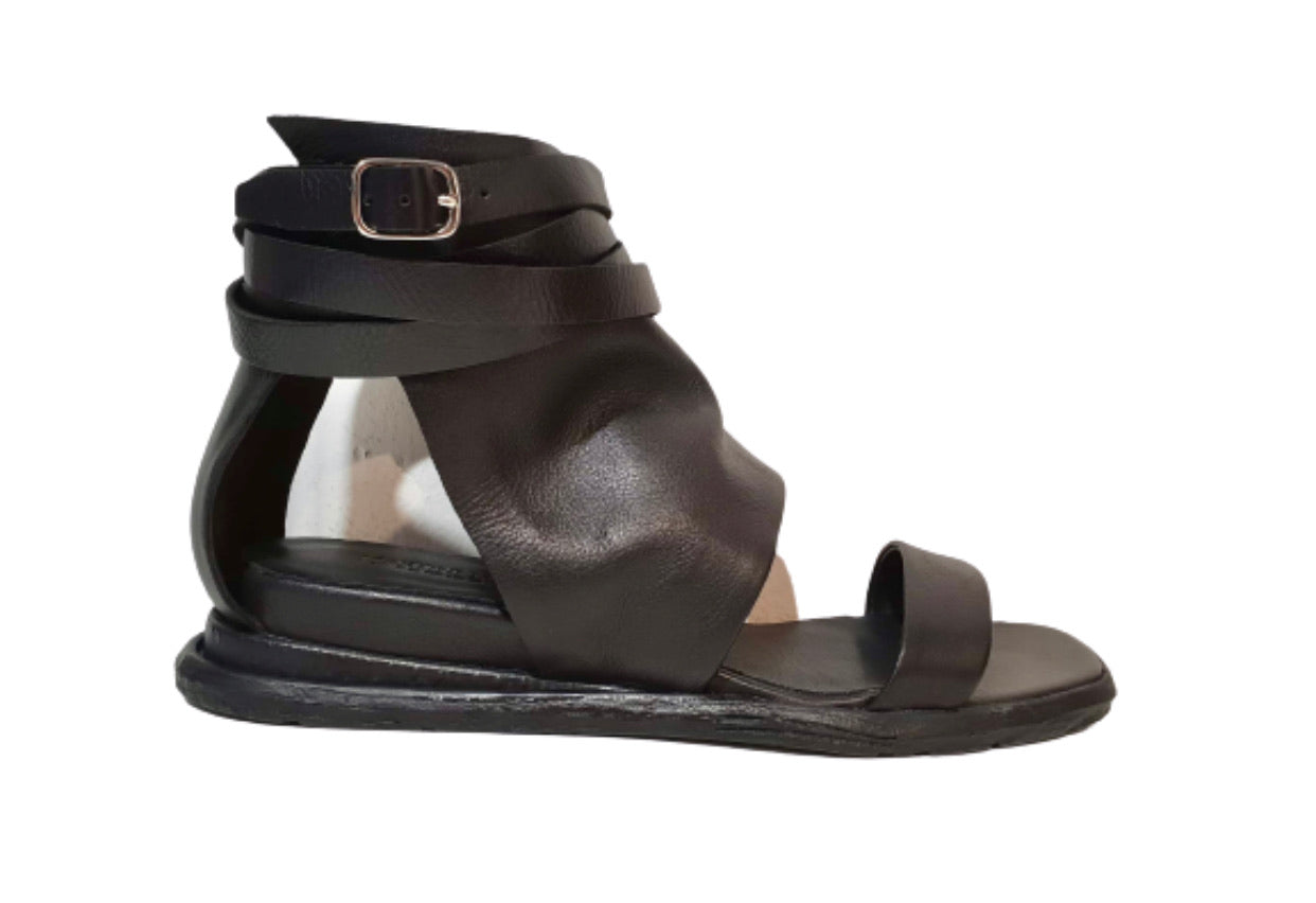 Martini Marco T0308 Black Nero Women's Flats Sandals Made In Romania