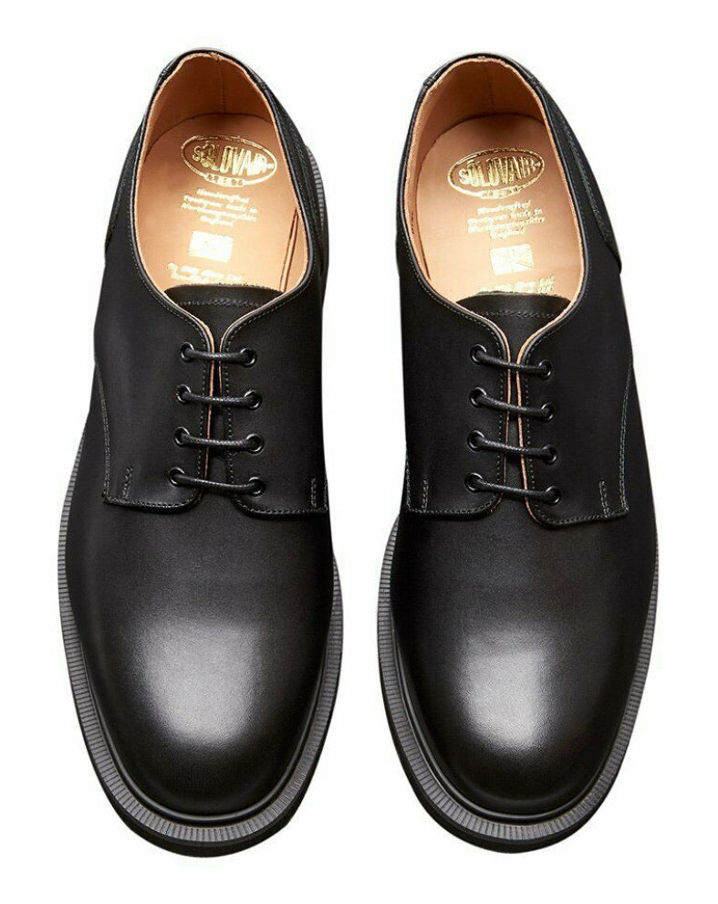 Solovair Black 4 Eyelet Gibson Shoe Made In England