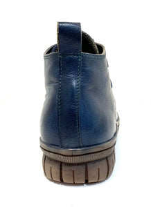 Minki Ladies Boots Bunt Navy Blue 2 Eyelet Lace Up