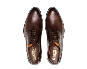 Pikolinos M7J-4187 Olmo Brown Mens 5 Eyelet Lace Up Made In Spain