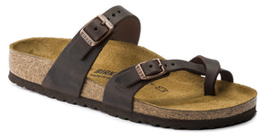Birkenstock Mayari Habana Brown Oiled Leather Made In Germany
