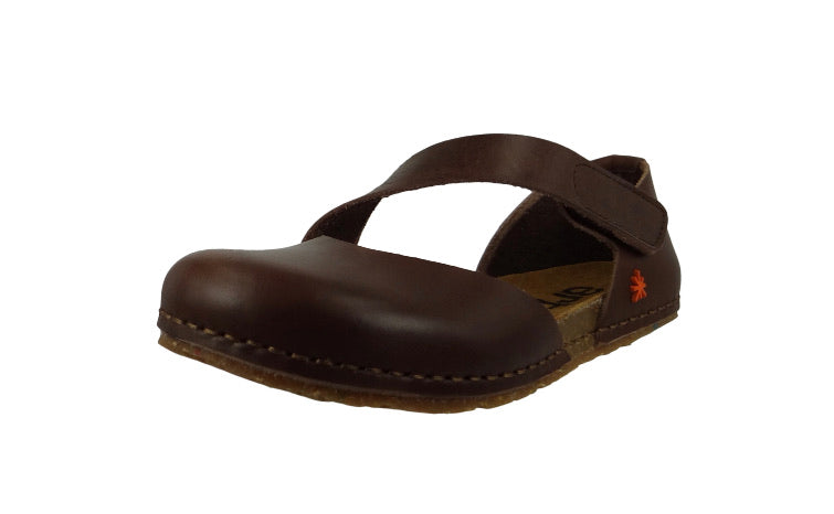 Art 0442 Creta Brown Mary Jane Flats Made In Spain