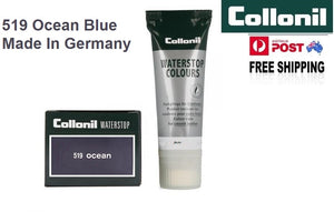 Shoe Care Products 519 Ocean Blue Cream Waterstop Collonil Sponge Applicator Tube 75ml