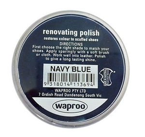 Shoe Care Products Waproo Navy Blue Renovating Polish 45g Made In Australia