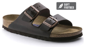 Birkenstock Arizona Brown Smooth Leather Soft Footbed Made In Germany