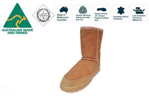 Ugg Australia Bondi 3/4 Chestnut Mid Calf Sheepskin Boot Made In Australia