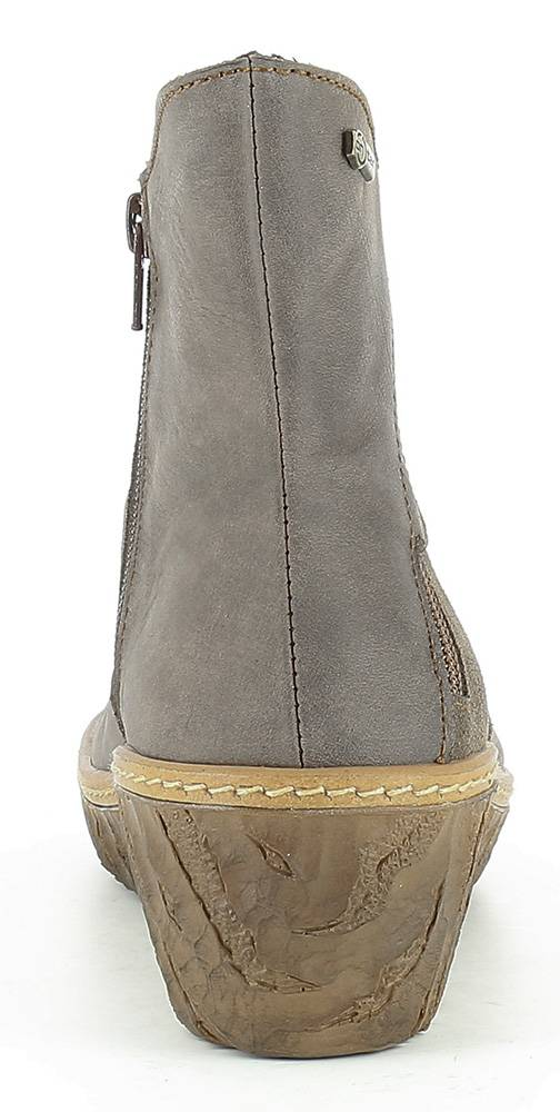 El Naturalista N5132 Plume Zip Ankle Wedge Boots Made In Spain