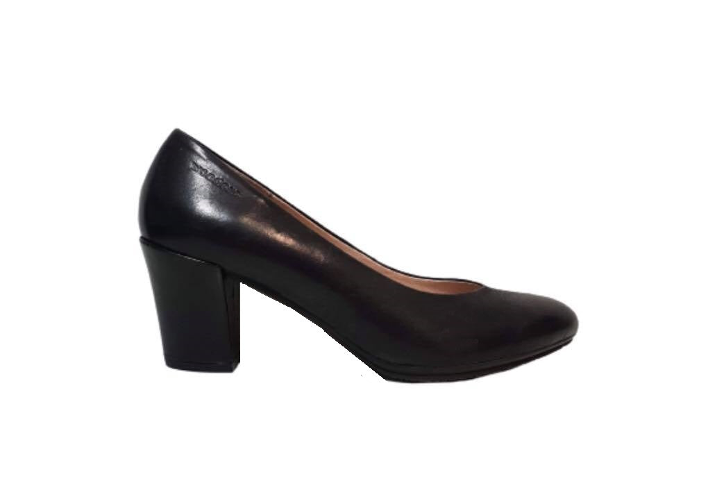 Wonders I-4743 Black Negro Leather Court Shoe Made In Spain