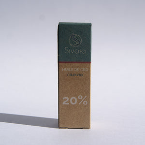 Sivaïa Huile de CBD Chanvre - CBD 20% - Packaging Responsable