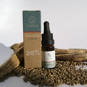 Sivaïa Huile de CBD Chanvre CBD 20% Set fiole et Packaging responsable