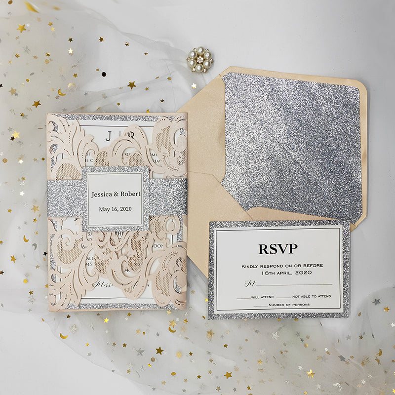 A4 Chiffon Sienna Silver Glitter Embossed Cotton Paper-Card Making-Weddings-Birthdays-Invitations This item REDUCED by 50/% DISCOUNT