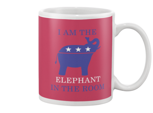 I am the Elephant in the Room Mug - Red